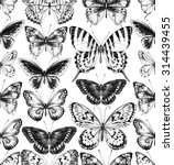 seamless pattern of black... | Shutterstock .eps vector #314439455