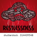 restlessness word meaning ill... | Shutterstock . vector #314439548