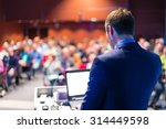 speaker at business conference... | Shutterstock . vector #314449598