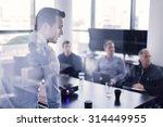 business man making a... | Shutterstock . vector #314449955