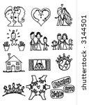love and family illustrations   Shutterstock .eps vector #3144501