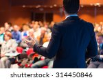 speaker at business conference... | Shutterstock . vector #314450846