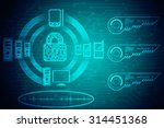 security concept  lock on... | Shutterstock . vector #314451368