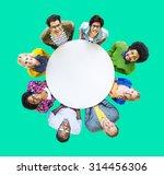 diverse people happiness... | Shutterstock . vector #314456306