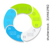 vector round infographic... | Shutterstock .eps vector #314461982