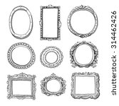 vector hand drawn frames | Shutterstock .eps vector #314462426