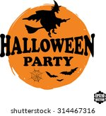 halloween party rubber stamp... | Shutterstock .eps vector #314467316