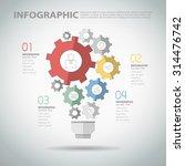 4 steps infographic template... | Shutterstock .eps vector #314476742