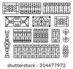 set of wrought iron modules... | Shutterstock .eps vector #314477972