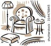 furniture set for living room...   Shutterstock .eps vector #314478845
