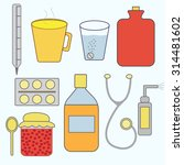 vector set on the medical theme ... | Shutterstock .eps vector #314481602