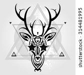 deer head tribal pattern.... | Shutterstock .eps vector #314481995