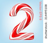 mint hard candy cane vector...   Shutterstock .eps vector #314495108