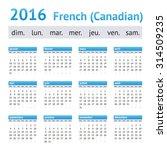 2016 french american calendar ... | Shutterstock .eps vector #314509235