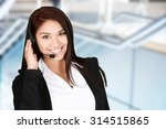 young woman giving help as a... | Shutterstock . vector #314515865