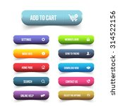 multicolored website button set | Shutterstock .eps vector #314522156