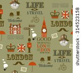 grey london newspaper seamless... | Shutterstock .eps vector #314523158