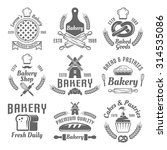 bakery and pastries set of... | Shutterstock .eps vector #314535086