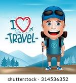 3d realistic tourist man... | Shutterstock .eps vector #314536352
