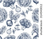 organic seamless pattern. fresh ... | Shutterstock .eps vector #314543012