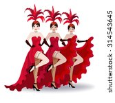 French Cancan Dancers Of The...
