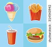 fast food icon set  burger ... | Shutterstock .eps vector #314543942