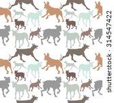 seamless dog pattern. grey ... | Shutterstock .eps vector #314547422