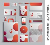 corporate identity template in... | Shutterstock .eps vector #314549858