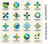 medical logo icons set. icons... | Shutterstock .eps vector #314556992