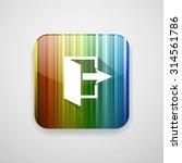 door arrow icon   Shutterstock .eps vector #314561786