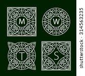 ornate frames for monograms or... | Shutterstock .eps vector #314563235