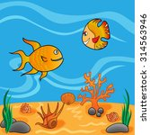 underwater life with funny... | Shutterstock .eps vector #314563946