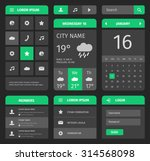 green and gray mobile interface....