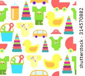 baby goods. pattern of baby... | Shutterstock .eps vector #314570882