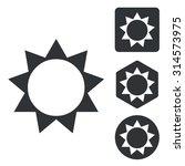 sun icon set  monochrome ...