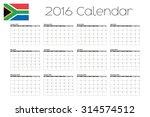 a 2016 calendar with the flag... | Shutterstock .eps vector #314574512