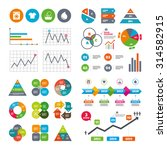 business data pie charts graphs.... | Shutterstock .eps vector #314582915