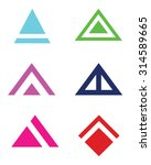 abstract vector triangle and... | Shutterstock .eps vector #314589665