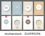 set of brochures in vintage... | Shutterstock .eps vector #314590196