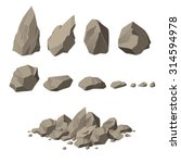 rock elements | Shutterstock .eps vector #314594978