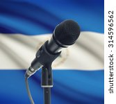 microphone with national flag... | Shutterstock . vector #314596562