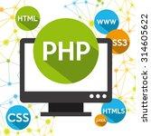 programming language design ... | Shutterstock .eps vector #314605622