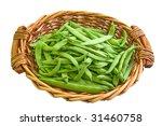 String Beans In Basket