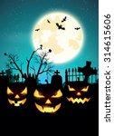 halloween night  vector... | Shutterstock .eps vector #314615606
