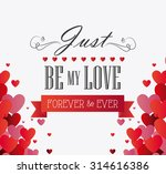 love card design with hearts... | Shutterstock .eps vector #314616386