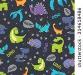 vector dinosaurs roaring... | Shutterstock .eps vector #314618486
