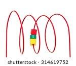 a close up shot of a geometric... | Shutterstock . vector #314619752
