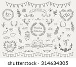 set of vintage hand drawn... | Shutterstock .eps vector #314634305