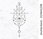 vector geometric alchemy symbol ... | Shutterstock .eps vector #314641238