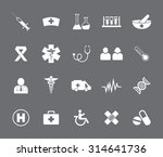 medical icons set | Shutterstock .eps vector #314641736
